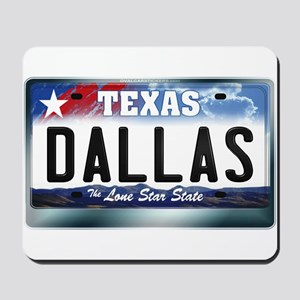 Texas License Plate [DALLAS] Mousepad